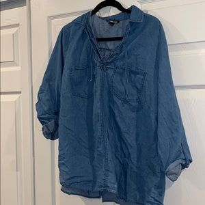 Charlotte Russe Chambray Top